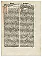 AUGUSTINUS, AURELIUS, Saint. De civitate Dei.  1486/87