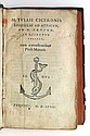ALDINE PRESS  CICERO, MARCUS TULLIUS. Epistolae ad Atticum, ad M. Brutum, ad Quinctum fratrem.  1558 [i. e., 1559]