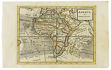 (AFRICA.) Group of six 18th century English maps of Africa or parts thereof,