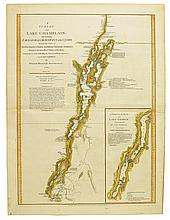 BRASSIER, WILLIAM. A Survey of Lake Champlain, including Lake George, Crown Point and St. John.
