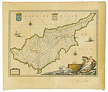 (CYPRUS.) Blaeu, Willem. Cyprus Insula.