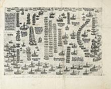 (CYPRUS.) Jenichen, Balthasar. Warhafftige Co[n]terfettung der Turckischen Armata von Balleenn und andern Schiffen Dreihundert