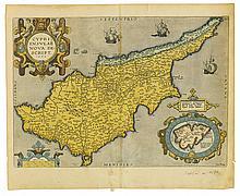 (CYPRUS.) Ortelius, Abraham. Cypri Insulae Nova Descript. 1573.