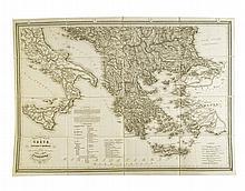 FRIED, F[RANZ]. Carte comparative de la Grèce ancienne & moderne.