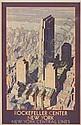 LESLIE RAGAN ROCKEFELLER CENTER NEW YORK.  Circa 1930., Leslie Darrell Ragan, Click for value