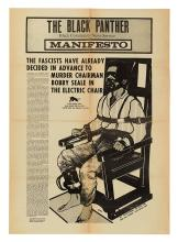 SEALE, BOBBY. Manifesto. The Fascists Have Already Decided in Advance to Murder Chairman Bobby Seale in the Electric Chair.