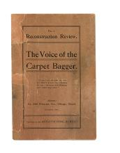 (LYNCHING.) WELLS IDA B[ARNETT]. The Reconstruction Review. Voice of the Carpet Bagger. Volume 1.