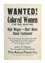 (EMPLOYMENT.) Wanted! Colored Women for Rag Sorting. High Wages—Short Hours. Steady Employment.