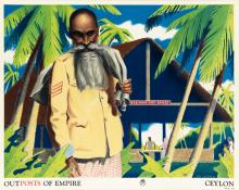 JOHN VICKERY (1906-1983). OUTPOSTS OF EMPIRE. Two posters. 1937 & 1938. Each 20x25 inches, 50x63 cm.