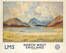 FREDA MARSTON (1895-1949). NORTH WEST ENGLAND / LMS. Circa 1930. 39x49 inches, 101x126 cm. Staffords, Netherfield.