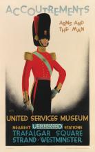AUSTIN COOPER (1890-1964). ACCOUTREMENTS / UNITED SERVICES MUSEUM. 1928. 39x24 inches, 101x63 cm. The Baynard Press, [London.]