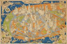 ARTHUR ZAIDENBERG (1908-1990). DOWNTOWN DISTRICT OF MANHATTAN. 1938. 24x36 inches, 62x97 cm. Gardner Osborn, New York.