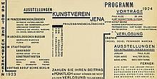 WALTER DEXEL (1890-1973). AUSSTELLUNG KUNSTVEREIN JENA. Leaflet. 1923. 5x11 inches, 14x29 cm.