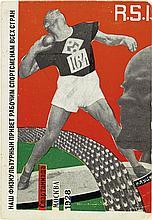 GUSTAV KLUTSIS (1895-1938). [SPARTAKIADA.] Postcard. 1928. 5x4 inches, 14x10 cm. Izvestiya, Moscow.