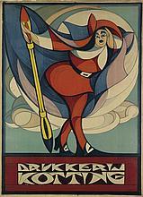 CHARLES VERSCHUUREN, JR. (1899-1955). DRUKKERIJ KOTTING. Circa 1917. 42x31 inches, 108x78 cm. [Drukkerij Kotting, Amsterdam.]