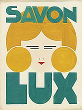 E. TINEL (DATES UNKNOWN). SAVON LUX. Gouache maquette. 28x21 inches, 60x54 cm.