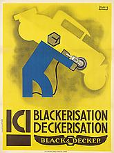 FRANCIS BERNARD (1900-1979). ICI / BLACKERISATION DECKERISATION / BLACK & DECKER. 1930. 62x47 inches, 158x119cm. Paul Martial, Paris.