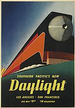 SAM HYDE HARRIS (1889-1977). SOUTHERN PACIFIC'S NEW DAYLIGHT. 1937. 23x16 inches, 58x40 cm.