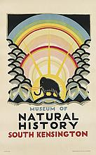 EDWARD MCKNIGHT KAUFFER (1890-1954). MUSEUM OF NATURAL HISTORY. 1923. 38x23 inches, 96x59 cm. Vincent Brooks, Day & Son Ltd, London.