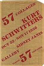 DESIGNER UNKNOWN. 57 COLLAGES: KURT SCHWITTERS / SIDNEY JANIS GALLERY. 1956. 22x15 inches, 57x38 cm.