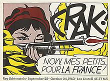 ROY LICHTENSTEIN (1923-1997). [ROY LICHTENSTEIN / LEO CASTELLI GALLERY EXHIBITIONS.] Two posters. 1963 and 1965. Sizes vary.