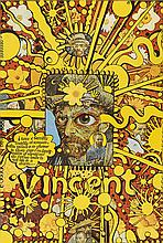 MARTIN SHARP (1942-2013). VINCENT. 1968. 28x19 inches, 73x49 cm. [Big O Posters, London.]