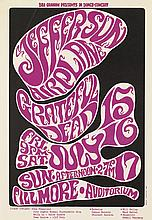 WES WILSON (1937- ). JEFFERSON AIRPLANE / GRATEFUL DEAD. 1966. 20x14 inches, 50x35 cm.