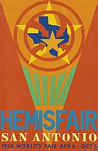 ROBERT INDIANA (1928- ). VIVA / HEMISFAIR / SAN ANTONIO. 1968. 46x30 inches, 117x76 cm. L.P.I.U., St. Louis.
