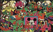 WALLY WOOD (1927-1981). [THE DISNEY LAND MEMORIAL ORGY.] 1967. 16x27 inches, 42x70 cm.