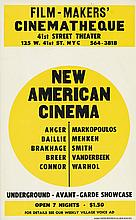 DESIGNER UNKNOWN. NEW AMERICAN CINEMA. 1966. 22x14 inches, 56x35 cm. Murray Poster Printing Co. Inc., New York.