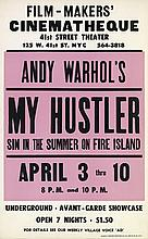 DESIGNER UNKNOWN. ANDY WARHOL'S / MY HUSTLER. 1966. 22x14 inches, 56x35 cm. Murray Poster Printing Co. Inc., New York.