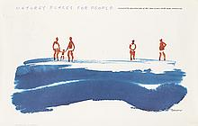 GEORGE TSCHERNY (1924- ). NATURE'S PLACES FOR PEOPLE. 1994. 24x39 inches, 62x99 cm. Brodock Press, Inc., Utica, NY.