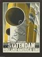 ADOLPHE MOURON CASSANDRE (1901-1968). NEW STATENDAM / HOLLAND - AMERICA LINE. 1928. 40x29 inches, 101x73 cm. Nijgh & Van Dittmar, Rotte