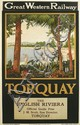 DESIGNER UNKNOWN. GREAT WESTERN RAILWAY / TORQUAY. 1927. 39x24 inches, 101x63 cm. Philip Reid, London.