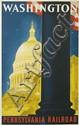 SASCHA MAURER (1897-1961). WASHINGTON / PENNSYLVANIA RAILROAD. Circa 1940. 40x25 inches, 103x63 cm.