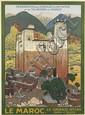 JACQUES MAJORELLE (1886-1962). LE MAROC. 1923. 41x29 inches, 104x75 cm. Champenois, Paris.
