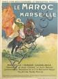 ERNEST LOUIS LESSIEUX (1848-1925). LE MAROC VIA MARSEILLE. 1913. 42x30 inches, 106x76 cm. Cornille & Serre, Paris.