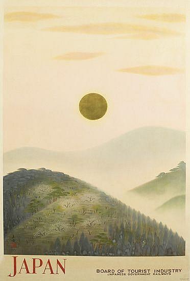 D'APRÈS GAKURYO NAKAMURA (1890-1960). JAPAN. Circa 1935. 39x25 inches, 62x63 cm. Kyodo Printing Co., Tokyo.