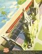BERN HILL (1911-1977). KATY STATION SAN ANTONIO, TEXAS. Circa 1950s. 24x18 inches, 61x46 cm.