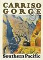 MAURICE LOGAN (1886-1977). CARRISO GORGE / SOUTHERN PACIFIC. 1929. 23x16 inches, 58x40 cm.