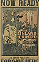 WILLIAM H. BRADLEY (1868-1962). THE INLAND PRINTER. 1895. 21x13 inches, 54x33 cm.