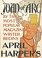 EDWARD PENFIELD (1866-1925). JOAN OF ARC / APRIL HARPER'S. 1895. 17x12 inches, 45x32 cm.