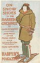 EDWARD PENFIELD (1866-1925). ON SNOW SHOES TO THE BARREN GROUNDS / HARPER'S. 1896. 18x11 inches, 46x29 cm.