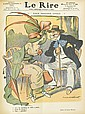 VARIOUS ARTISTS. LE RIRE AND FIGARGO ILLUSTRÉ. 7 bound volumes. 1903-1912. Sizes vary.