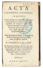 JESUITS.  Acta Cantoniensia authentica. 1700 + LE COMTE, LOUIS, S.J. Lettera . . . intorno alle Ceremonie della Cina. 1700
