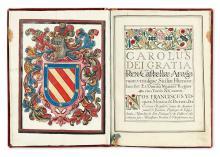 MANUSCRIPT.   Patent of nobility in favor of Maria Manuela Teresa Fuenbuena de la Fuente. Ms. in Latin and Spanish on vellum. 1667