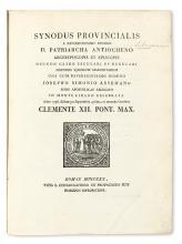 MARONITE SYNOD.  Synodus provincialis . . . in Monte Libano celebrata anno 1736.  1820