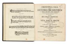 ORKNEYINGA SAGA.  Jónsson, Jon, translator. Orkneyinga Saga; sive, Historia Orcadensium a prima Orcadum per Norvegos occupatione. 1780