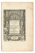 THEVET, ANDRÉ. Des Vrais Portraits et Vies des Hommes illustres Grecz, Latins, et Payens.  1584