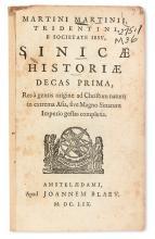 TRAVEL  MARTINI, MARTINO, S.J. Sinicae historiae decas prima [all published]. 1659